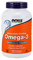 Рыбий жир NOW Omega-3 200 softgels