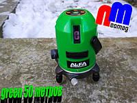 Лазерный уровень, нивелир с аккумулятором ✦AL-FA (Italiana) ALNL02 ✦ ЗЕЛЕНЫЙ луч 50 метров