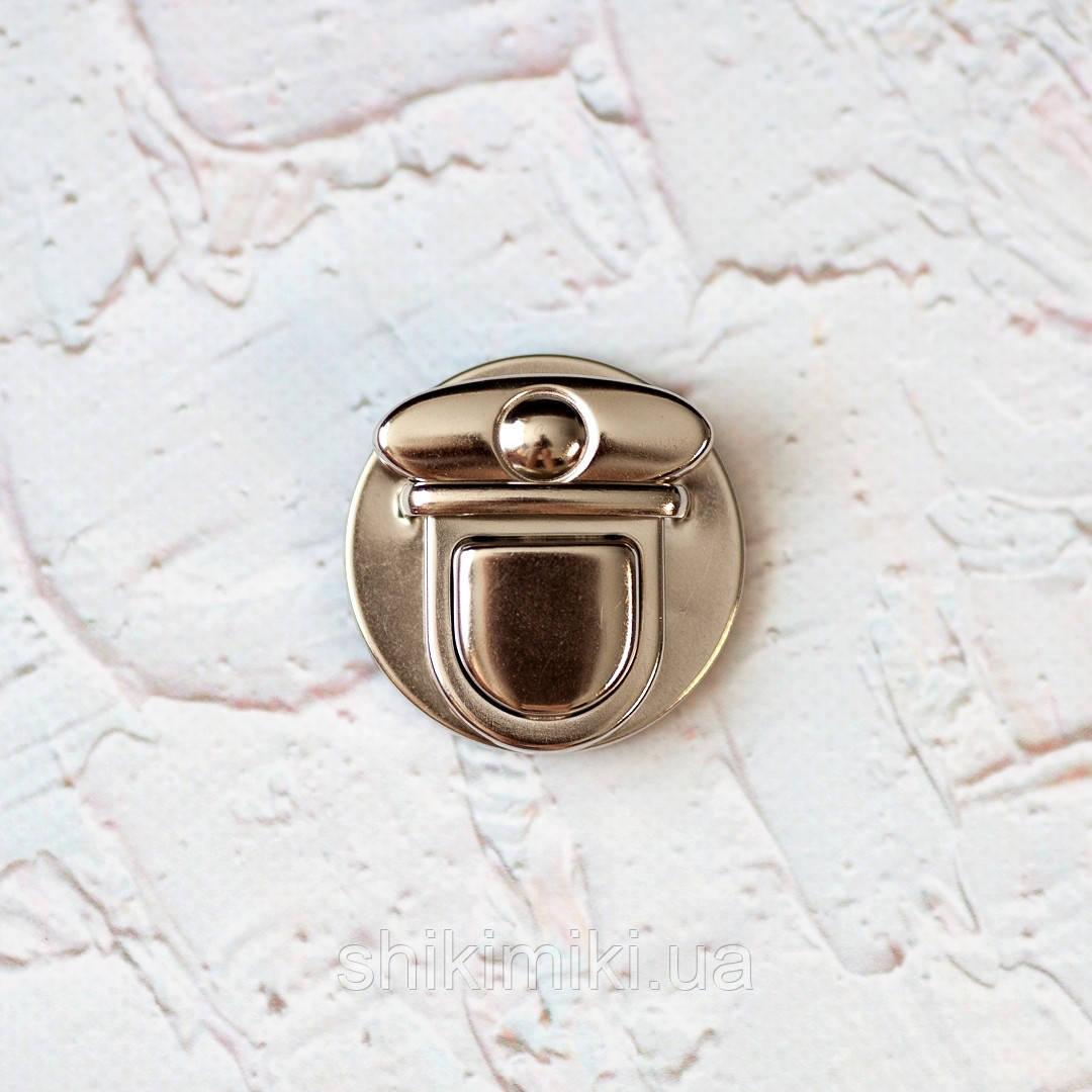 Замок  круглый портфельный  ZМ01-1,цвет никель
