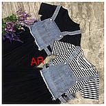 Женское платье с фатином и джинсовым жилетом (2 цвета), фото 2