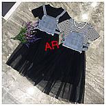 Женское платье с фатином и джинсовым жилетом (2 цвета), фото 3