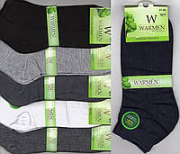 Носки мужские демисезонные бамбук Warmen, без шва, 41-44 размер, короткие, ассорти, 02320