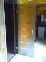 Стеклянные межкомнатные двери без коробки  , фото 1