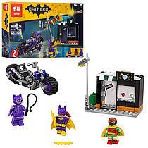 """Конструктор Бэтмен """"ВATLEADER"""" мотоцикл, строение, фигурки, 154деталей, 07058, копия лего"""