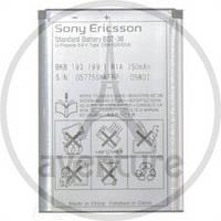 Аккумулятор оригинал SonyEricsson BST-36 J300a/ J300c/ 300i/ Z550c/ Z550i/ K510i/ K310i/ W200i/ Z310i/ K320i