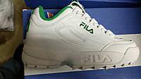 Кросівки Fila Disruptor II White Green ашдф askf фила філа Кросівки hype.