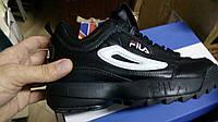 Кросівки Fila Disruptor Black/White Supreme II.