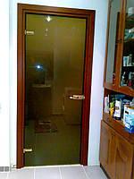 Межкомнатные двери из закаленного стекла (бронза), фото 1