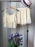 Женский хитовый плиссированный костюм: топ с рюшами и юбка-шорты (3 цвета), фото 9