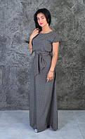 Красивое летнее платье в пол полотно - софт (размер 44-54)