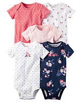 Детские боди  для девочки (5 шт)  12  месяцев, фото 1