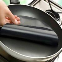 Тефлоновый 24 см антипригарный коврик для сковородки, мультиварки, круглый, тефлон