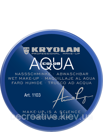 Синий аквагрим AQUACOLOR 55мл(оттенок Blue 3)