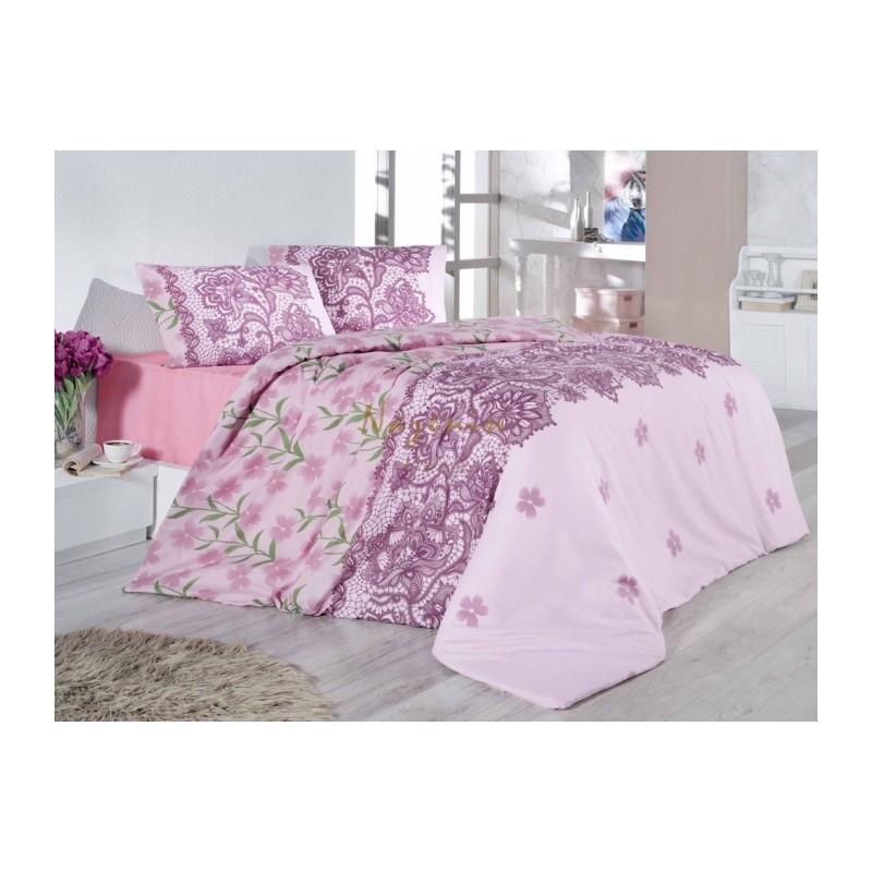 Постельное белье Nazenin Cottonland - Laryssa розовое евро