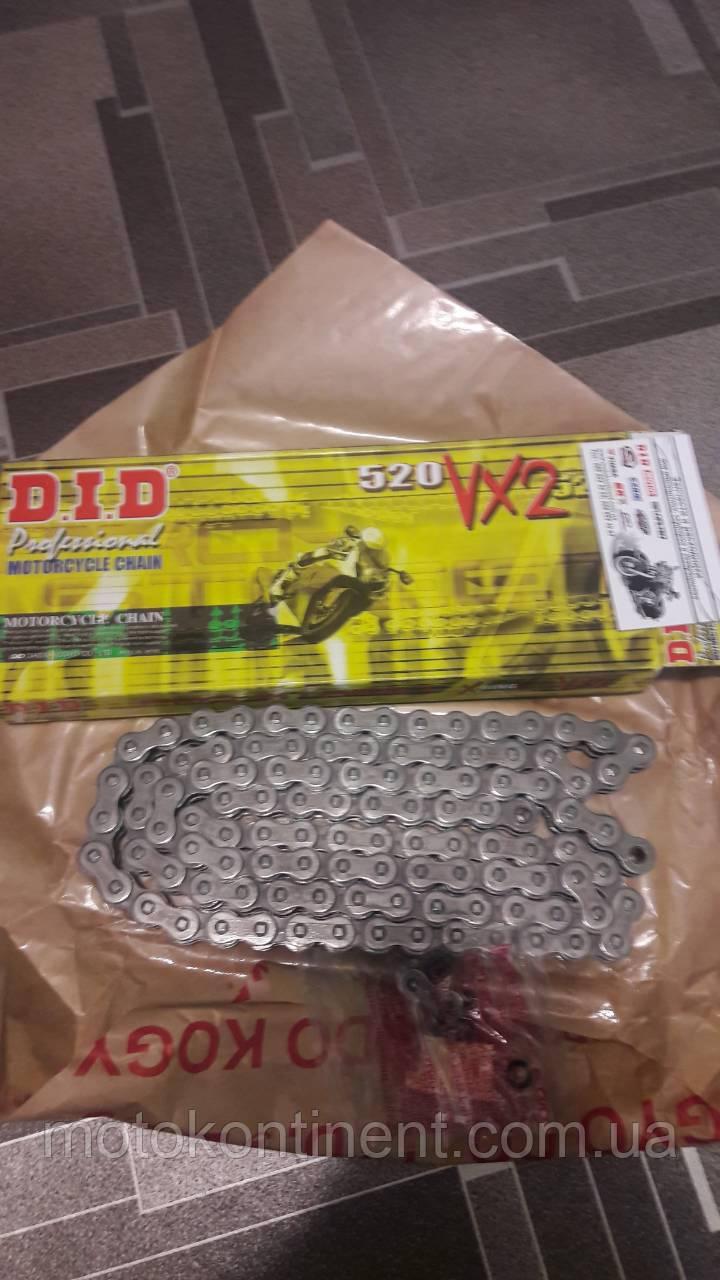 Мото ланцюг 520 DID 520VX2 116 сталева (чорна) для мотоцикла сальники типу X-Ring