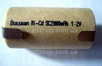БАНКИ для ремонта аккумуляторов:42х22 мм:Аккумуляторные элементы 42х22 мм Bossman Ni-Cd 1,2в 2000mA/h, банки для ремонта аккумуляторов шуруповертов