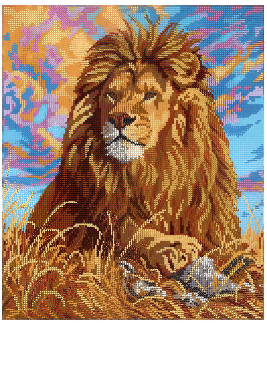 Лев из бисера схема вышивки