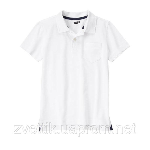 Белое хлопковое поло (Размер М7-8) Crazy8 (США)