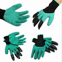 Резиновые садовые перчатки с когтями