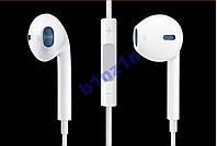 Наушники с микрофоном + пульт + коробка Apple