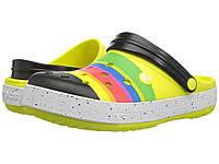 Сандалии Crocs Crocband Color-Burst Clog Tennis Ball Green - Оригинал, фото 1