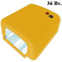 UV-лампа 36 W для Полимеризации Гелей и Гель-Лаков Цвет Желтый
