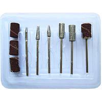 Набор насадок - фрез для нарощеных ногтей, 6 шт.