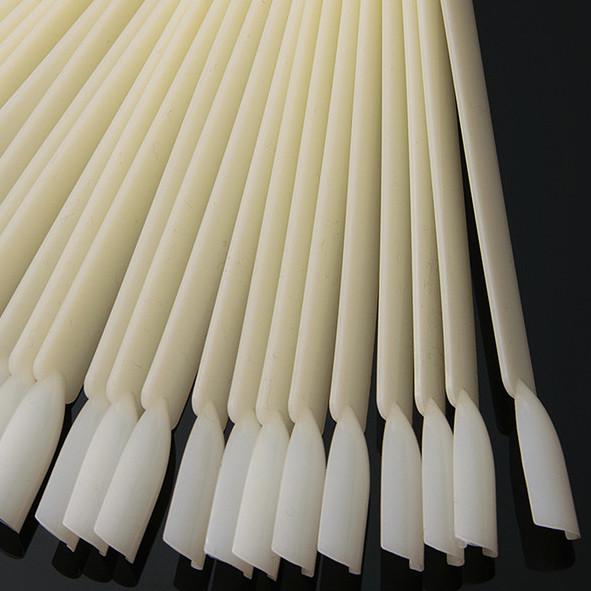 Купити Палітру для нігтів віяло на кільці біла матова для зразків лаків, гель-лаків, малюнків