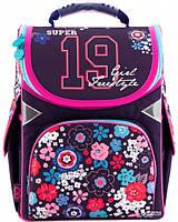 Каркасный рюкзак GoPack 34х26х13 см 11 л для девочек Разноцветный (GO18-5001S-10)