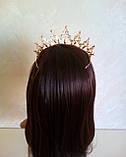 Диадема, корона,  тиара под  золото с жемчугом и камнями,  высота 5,5 см., фото 5