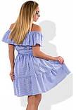 Платье сарафан на лето из коттона с оборками размеры от XL ПБ-590, фото 2