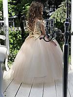 Детское нарядное платье для девочек с перьем