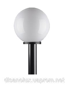Светильник парковый уличный шар φ 250 белый и труба  пластик  0,50м в грунт   IP44