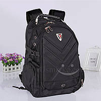 Рюкзак SwissGear городской 7696, черный + подарок зажигалка