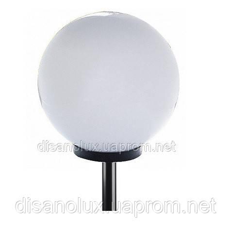 Светильник парковый уличный шар φ 400мм  белый и труба  пластик  0,50м в грунт