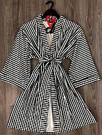 Полосатый женский велюровый халат 44-46 ТМ Exclusive