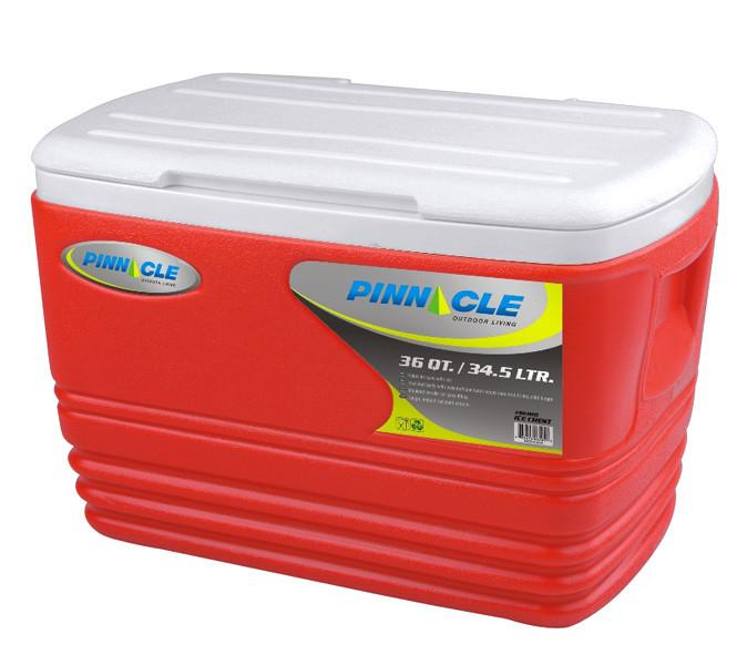 Термобокс Pinnacle Eskimo на 34,5 л красный (сумка холодильник, термосумка пластиковая, термо контейнер)