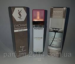 Мужской мини парфюм ив сен лоран ультим Yves Saint Laurent L'Homme Ultime 40 ml (лиц) одеколон духи пробник