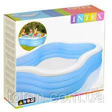 Дитячий надувний басейн Intex 57495 «Акварена» 229-229-56см Блакитний