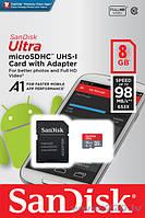 Карта памяти Ultra  sandisk +адаптер 8GB