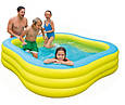 Дитячий надувний басейн Intex 57495 «Акварена» 229-229-56см Блакитний, фото 2