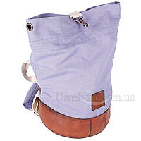 Рюкзак-трансформер из мешковины с дном из натуральной кожей 77705