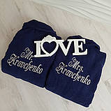 Именные халаты . Подарок на свадьбу, фото 2