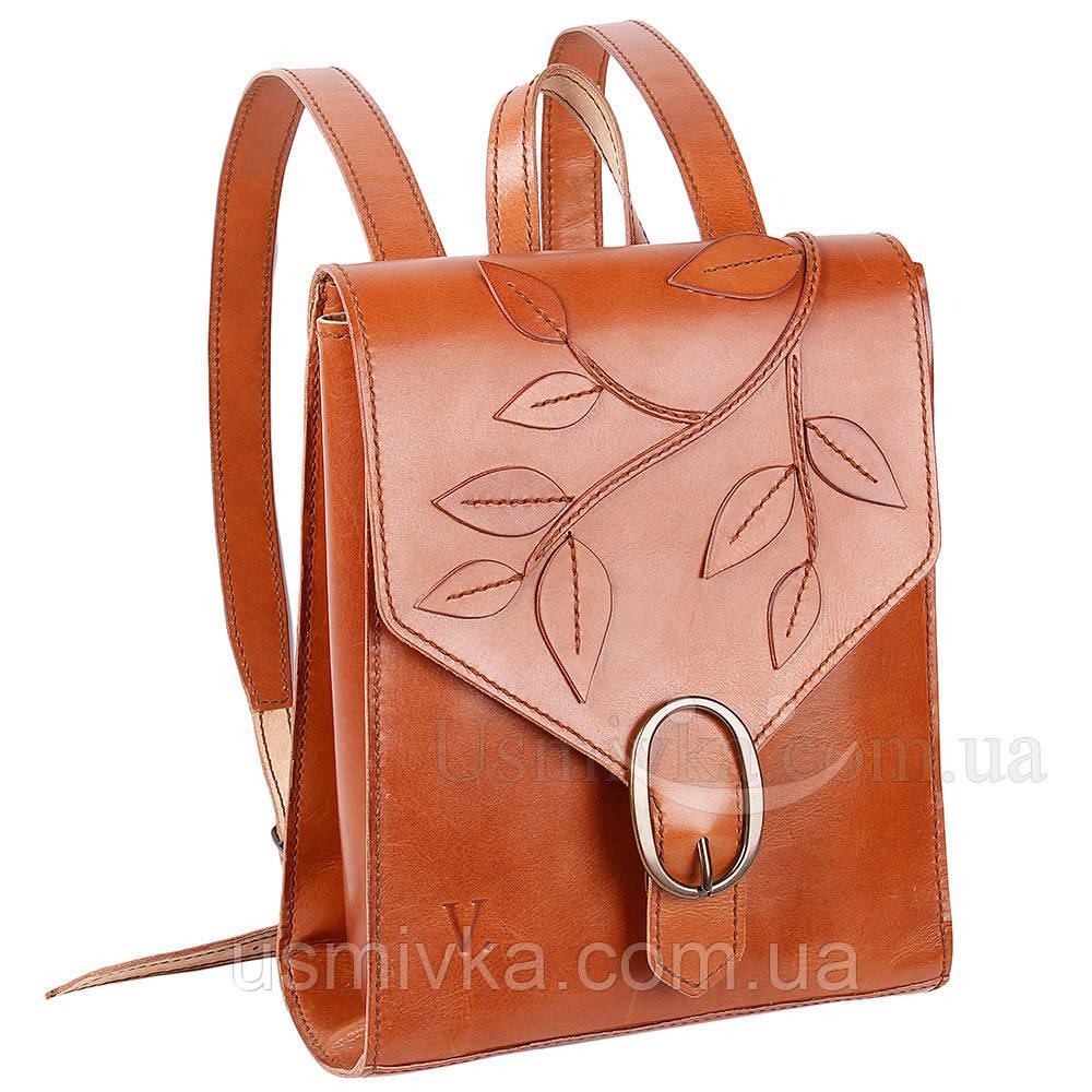 Женский рюкзак из натуральной кожи удивительный 77707