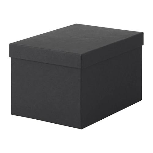 Контейнер с крышкой IKEA TJENA 18x25x15 см черный 603.954.85