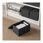 Контейнер с крышкой IKEA TJENA 18x25x15 см черный 603.954.85, фото 5