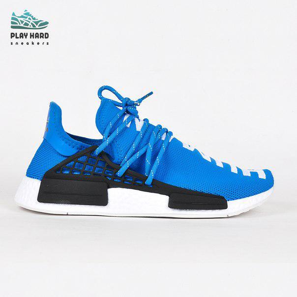 Мужские кроссовки Adidas Human Race Blue реплика