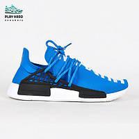 Мужские кроссовки Adidas Human Race Blue реплика, фото 1