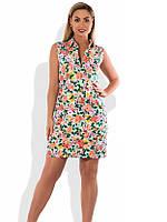 b6853213bb1 Модное женское платье на лето с цветами размеры от XL ПБ-594