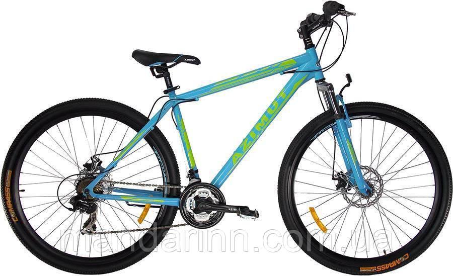 """Горный велосипед 29 дюймов Azimut Swift. Рама 21"""". Дисковые тормоза. Бирюзовый"""